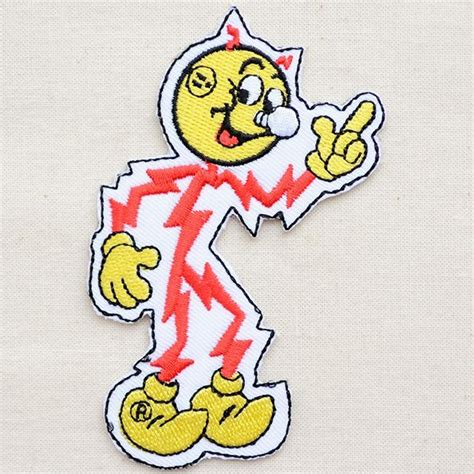 Reddy Kilowatt Character L by ワッペン Reddy Kilowatt レディキロワット ダイカット メール便可 アメリカ雑貨 家具 看板
