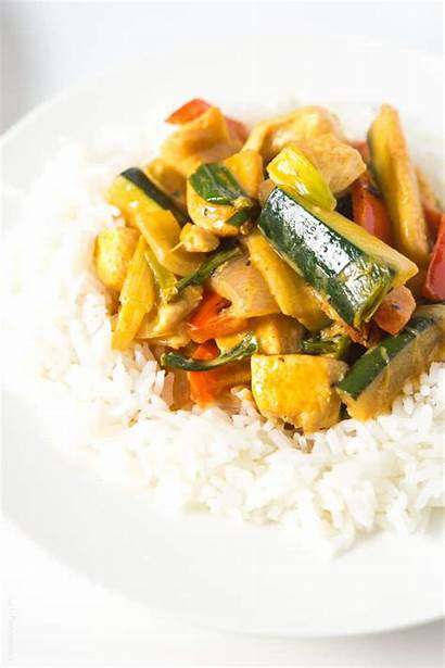 Curry Thai Chicken Coconut Whole30 Easy Rice