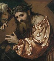 Jesus Carrying Cross Painting