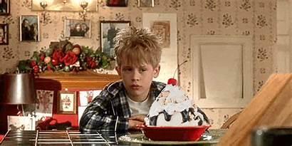 Alone Eating Eat Gifs Christmas Watching Sundae