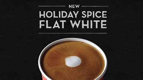 Pumpkin Spice Dunkin Donuts 2017 by Starbucks Debuts New Holiday Spice Flat White Beverage