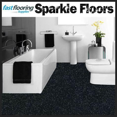 Altro Black Sparkly Bathroom Safety Flooring  Glitter