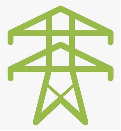 Grid Symbol Icon Power Tower Electricity Transparent
