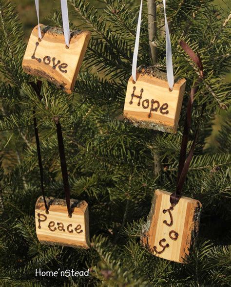 items similar to rustic country christmas ornament set of