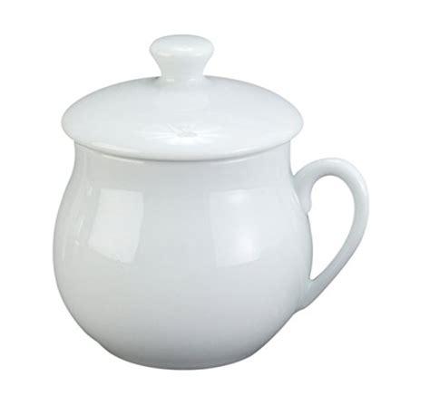 harold import company pots de creme custard cups with lids porcelain 4 ounce white set of 6