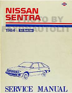 1984 Nissan Sentra Original Repair Shop Manual 84 Oem