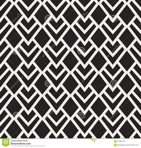 Vector Geometric Art Nouveau Triangle Seamless Pattern