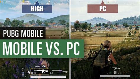pubg mobile grafik minimum vs medium vs maximum vs pc