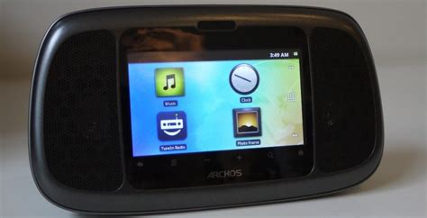 android radio archos home connect 35 android clock radio hits us slashgear