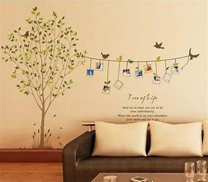 removable vinyl family photo tree wall decal wall art wall With tree of life wall decal