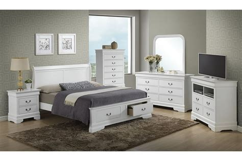 bedroom sets dawson white full size storage bedroom set