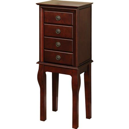 jewelry armoire walmart linon four drawer jewelry armoire espresso
