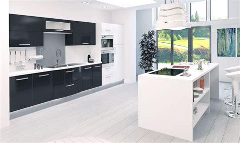 cuisine noir et grise charmant cuisine noir et blanche et marvelous cuisine noir