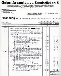 H M Rechnung : auswahl von rechnungen aus dem bausektor saarbr cken 1928 1931 ~ Themetempest.com Abrechnung