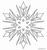 Coloring Pages Snowflake Printable Winter Snowflakes Weather Snow Cool2bkids Children Chilly Months sketch template