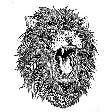 tatouage ephemere lion tempo tattoo