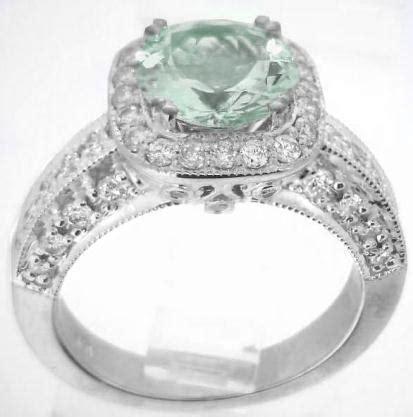 mm  green amethyst diamond halo engagement ring