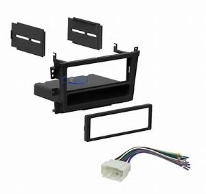 Car Radio Single Din Stereo Dash Kit   Wiring Harness For