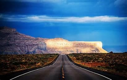 Arizona Road Sky Mountain Usa Desert Highway