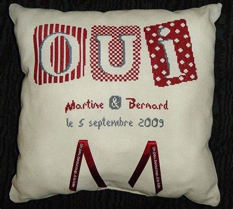 coussin alliance a broder photo coussin alliance mariage a broder