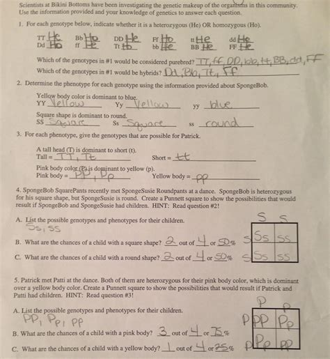 genetics worksheet cecelyfranz