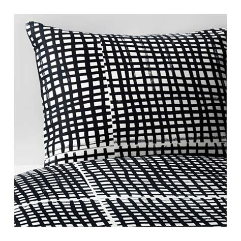 ikea white duvet ikea bjornloka ruta king duvet cover pillowcases set black