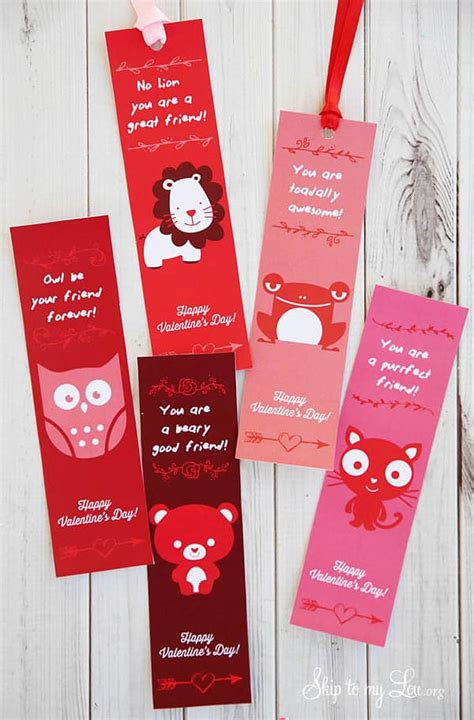 valentine printable bookmarks skip   lou