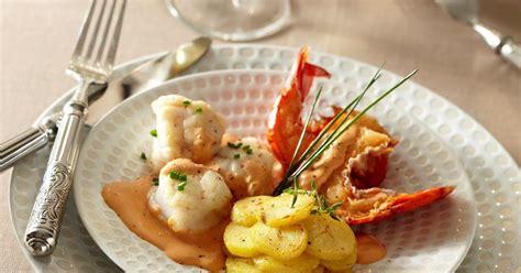recette homard  lotte  larmoricaine rattes du