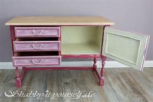 Shabby It Yourself : sideboard amy abgewetzte vintage sch nheit in rosa rot ~ Frokenaadalensverden.com Haus und Dekorationen