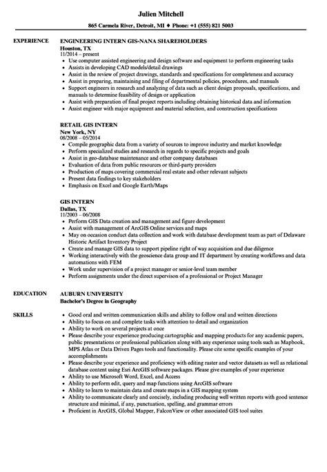 Gis Analyst Resume Sle by Gis Resume Sle Vvengelbert Nl