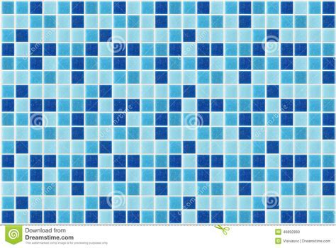Tile Mosaic Square Blue Texture Background Decorated With