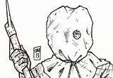 Jason Voorhees 13th Friday Template Coloring Mask Sketch Sheets Horror sketch template