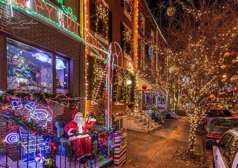 blocks christmas lights display     state