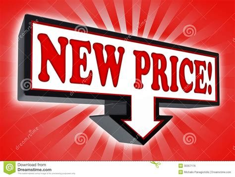 Price Of New by New Price Sign With Arrow Stock Illustration Illustration