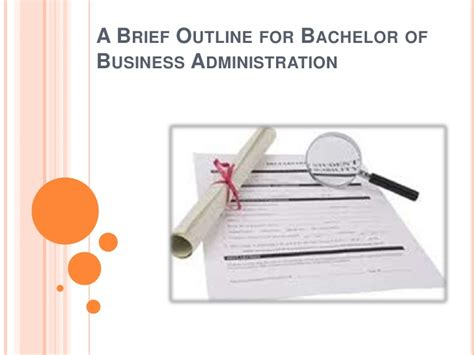 a brief outline for bachelor of business administration