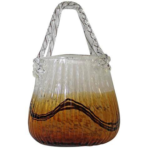 Murano Glass Purse Vase by Murano Glass Handbag Purse At 1stdibs