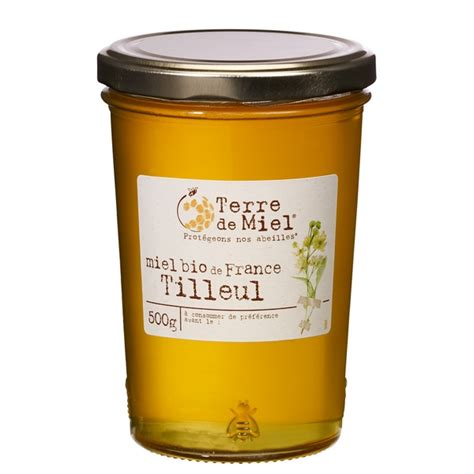 miel de tilleul bio france 500g terre de miel acheter