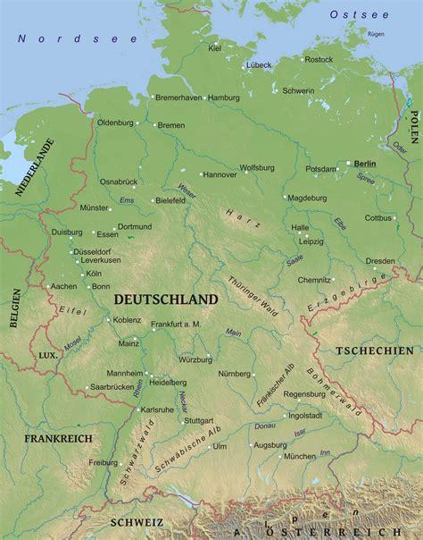 Karte von Deutschland - Freeworldmaps.net