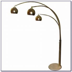 Chandelier head floor lamp arm arc floor lamps globe arc for Threshold 3 head floor lamp antique brass finish