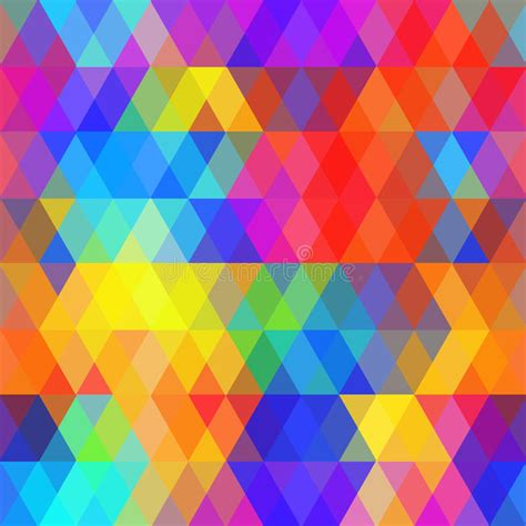 Abstract Hipsters Seamless Pattern With Bright Colored