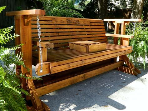 Porch Swing Bench by 5ft Handmade Southern Style Wood Porch Glider Patio Glider