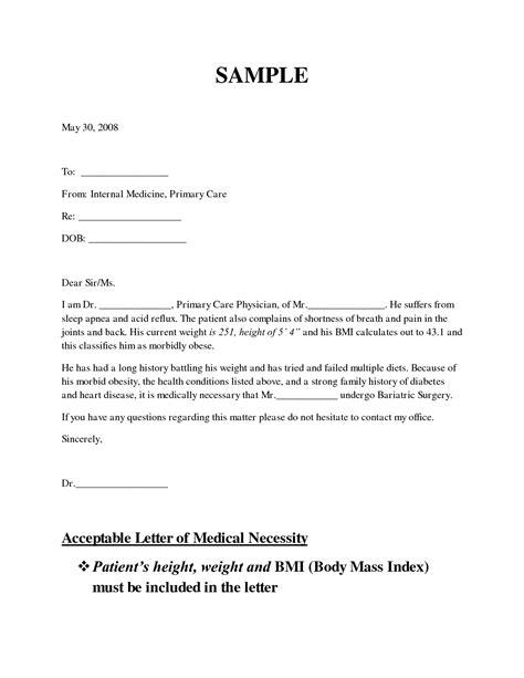 letter  medical necessity form sample
