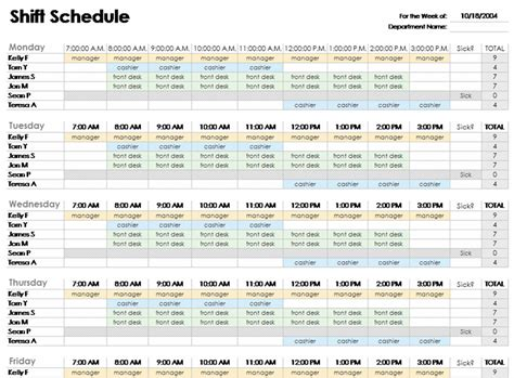 Microsoft Office Weekly Schedule Template Choice Image