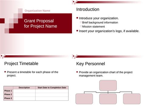 grant proposal templates  word