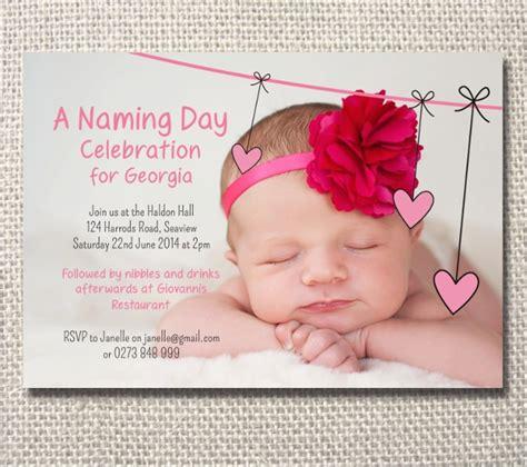 naming ceremony invitation templates sample templates