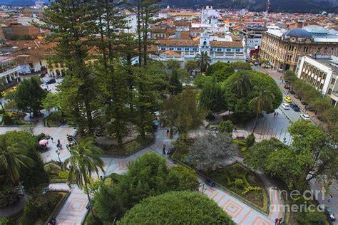 colonial home plans aerial view of parque calderon in cuenca ecuador