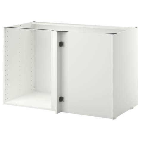 corner kitchen cabinet ikea metod corner base cabinet frame white 128 x 68 x 80 cm ikea 5834