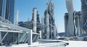 3d futuristic skyscrapers