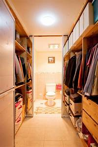 Master bedroom walk-in closet and bathroom