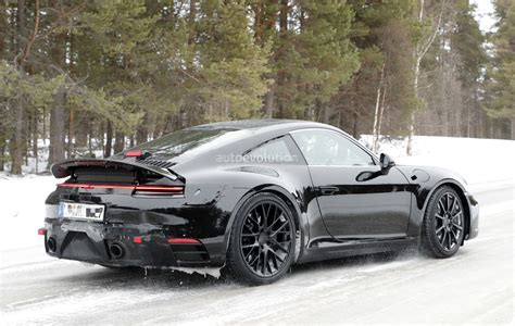 new porsche new porsche 911 spied with production body shows mission